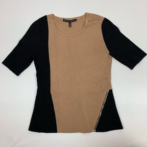 White House Black Market Peplum Knit Top